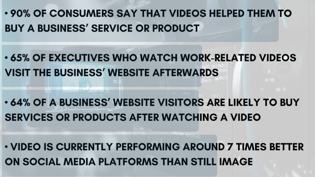 Video and Media Chart for Business Rapid Media Belfast Northern Ireland