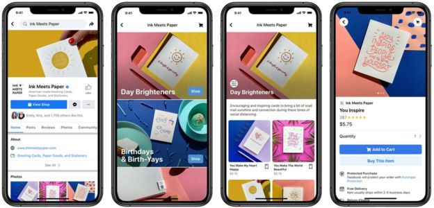 Shops will begin rolling out on Facebook today in the United States and are coming to Instagram sometime this summer. Instagram will showcase brands on its existing shop account, which already highlights items that are available for purchase. Later in the year, it plans to add a dedicated shopping tab to its navigation bar.