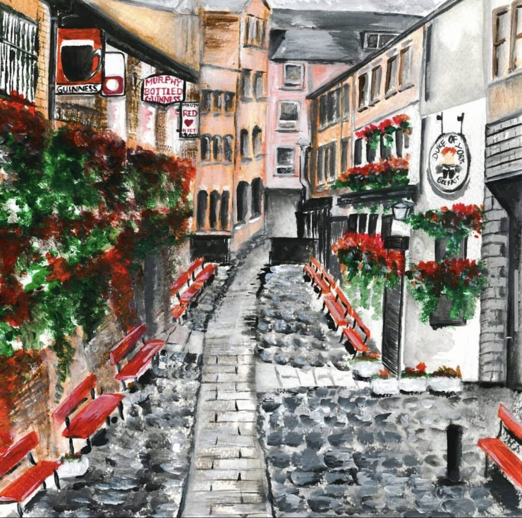 Amy Ashe Art graphic of Cathedral Quarter